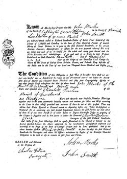 A Lichfield Marriage Bond