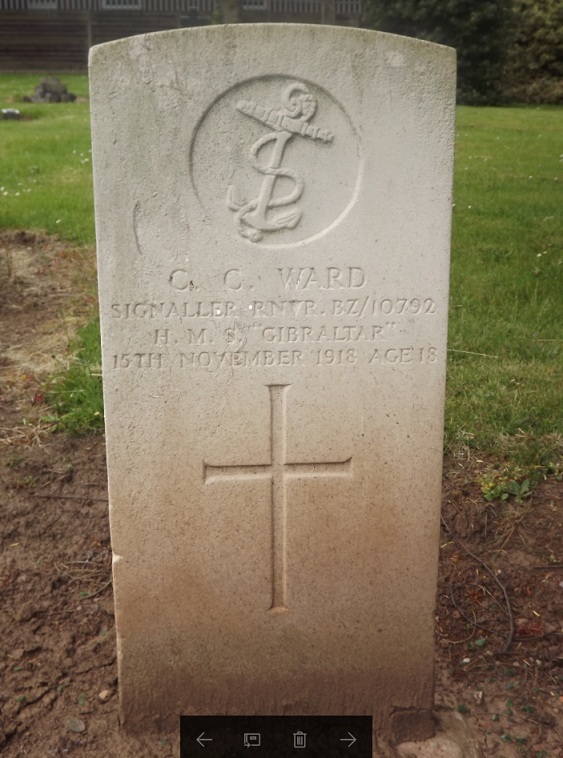 CWGC Grave for C C Ward
