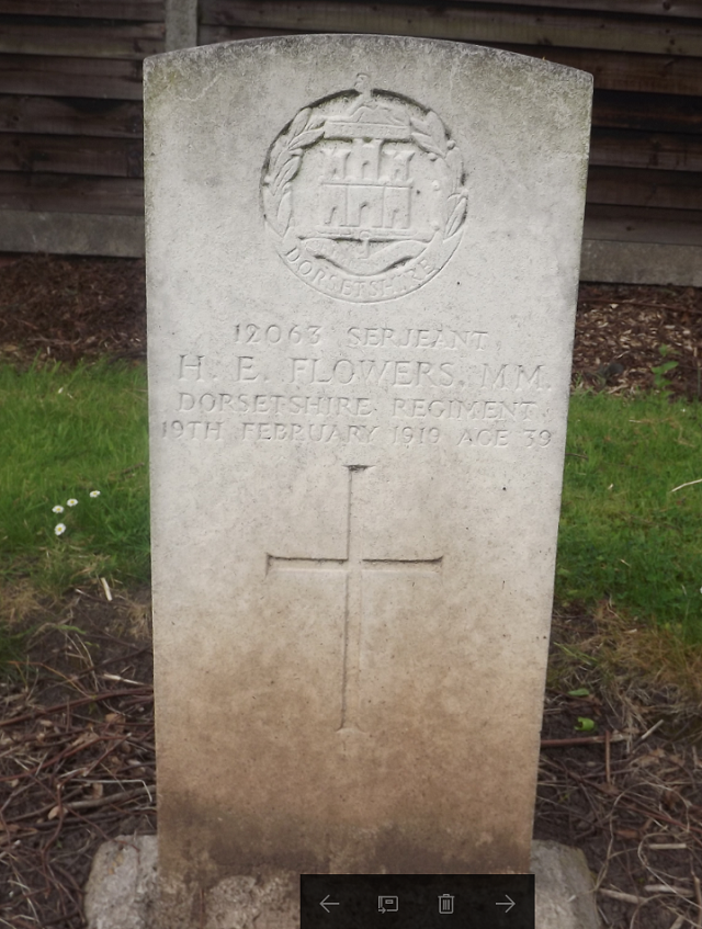 CWGC Grave for H E Flowers MM