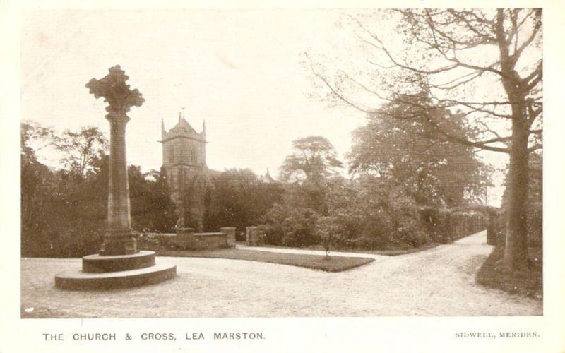 014Lea-Marston-St-John-the-Baptist-church-and-cross