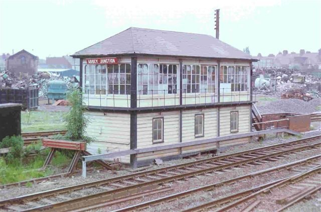 Nuneaton, Abbey Green -  Abbey Junction signal box 1993 now demolished