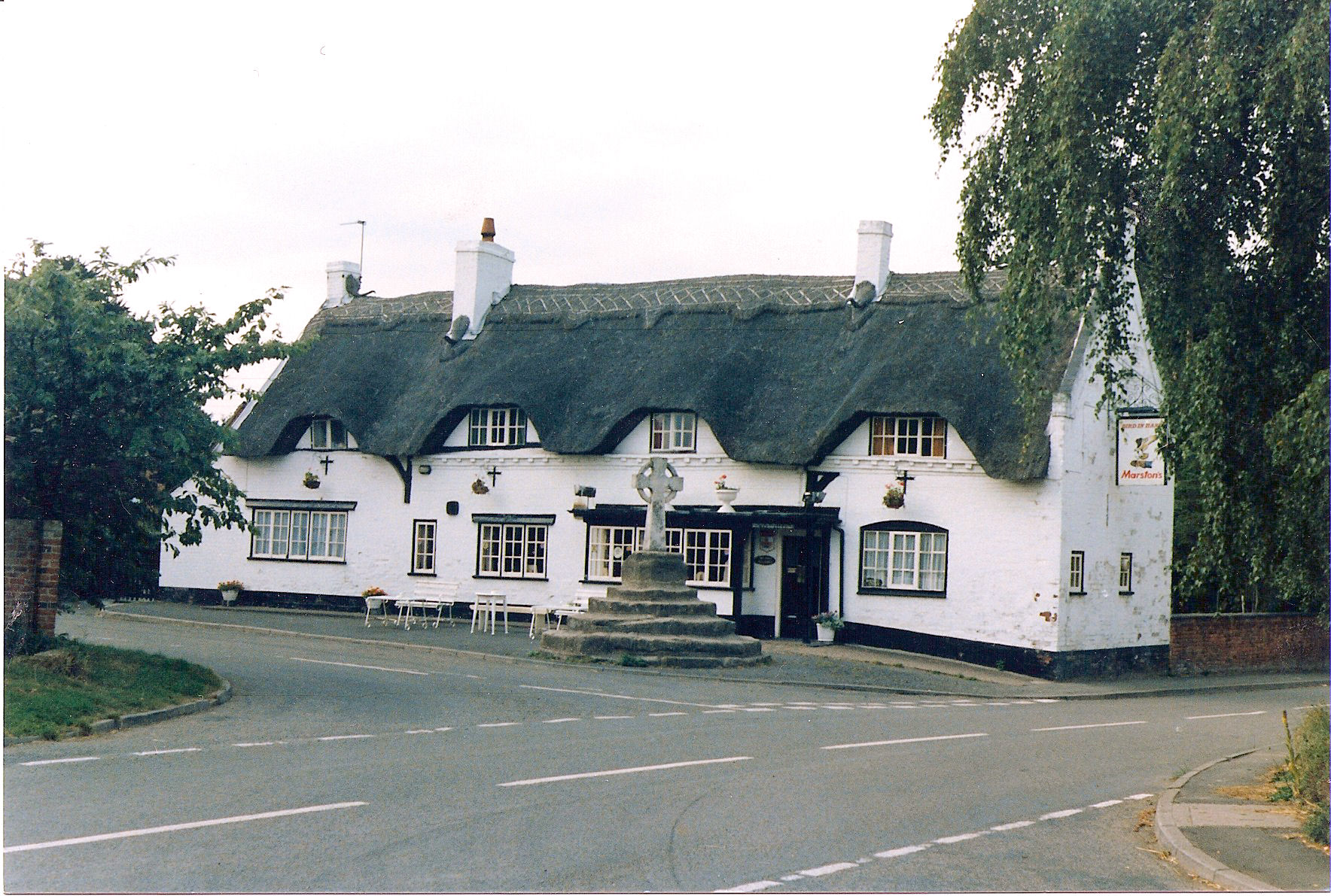 Austrey, The Bird in Hand Pub and Market Cross
