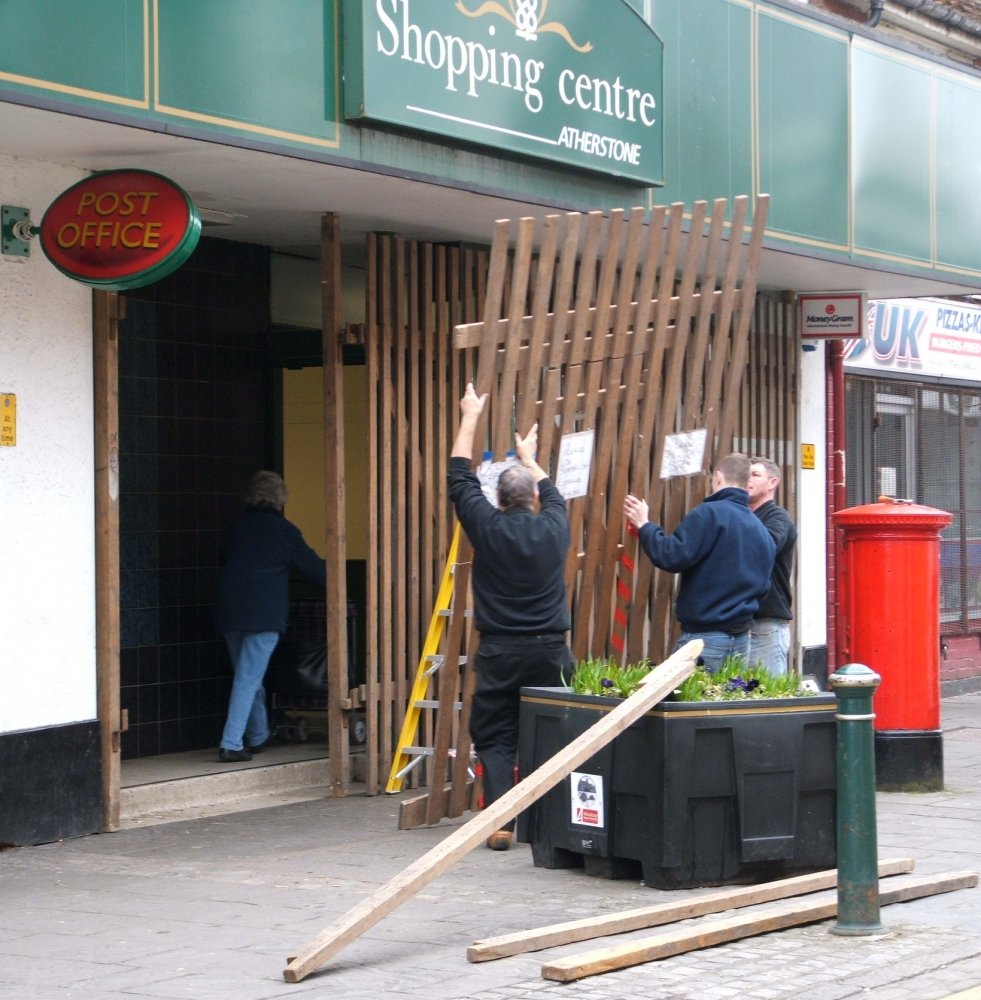 Boarding up the shops